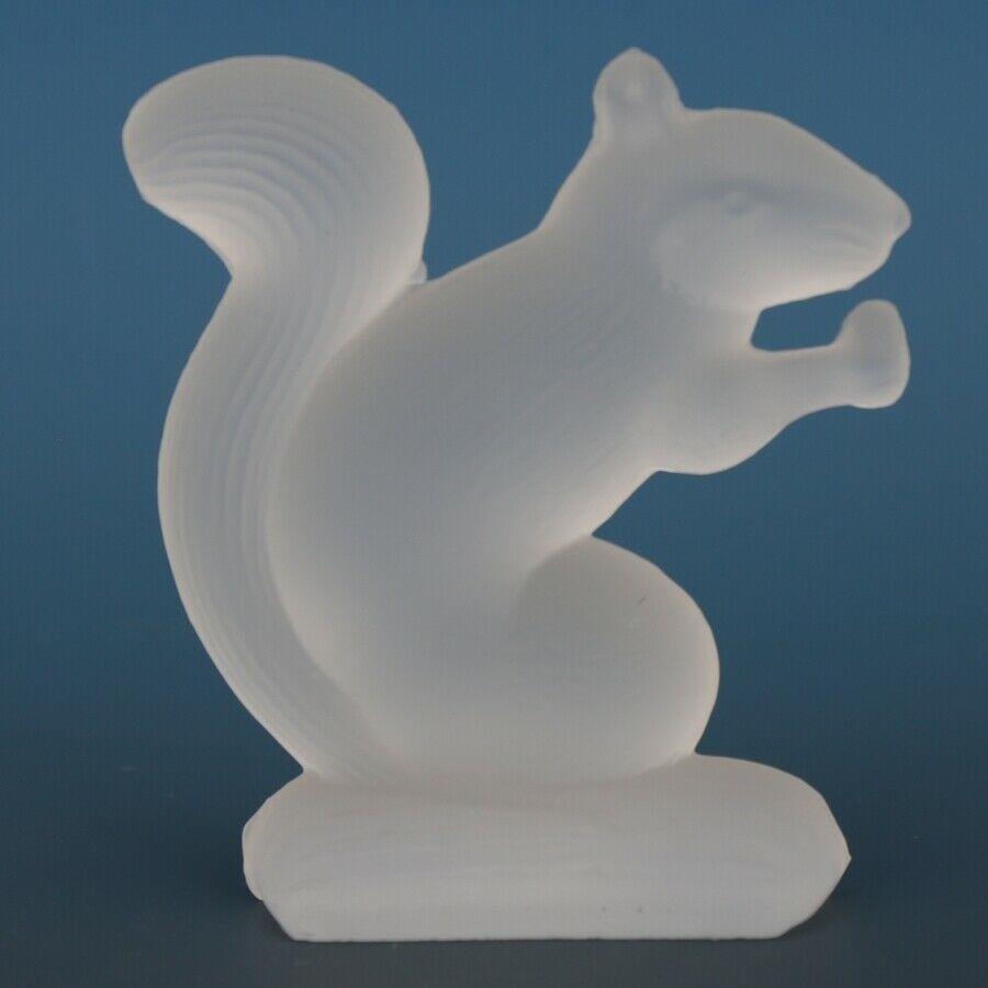 Vintage Smith Glass Miniature Crystal Satin Squirrel
