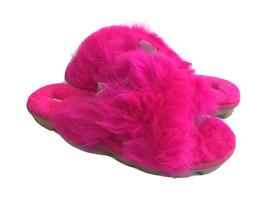 Ugg Fuzzalicious Rock Rose Fluff Mocassin Slip On Sandal Us 7 / Eu 38 / Uk 5 - $88.83