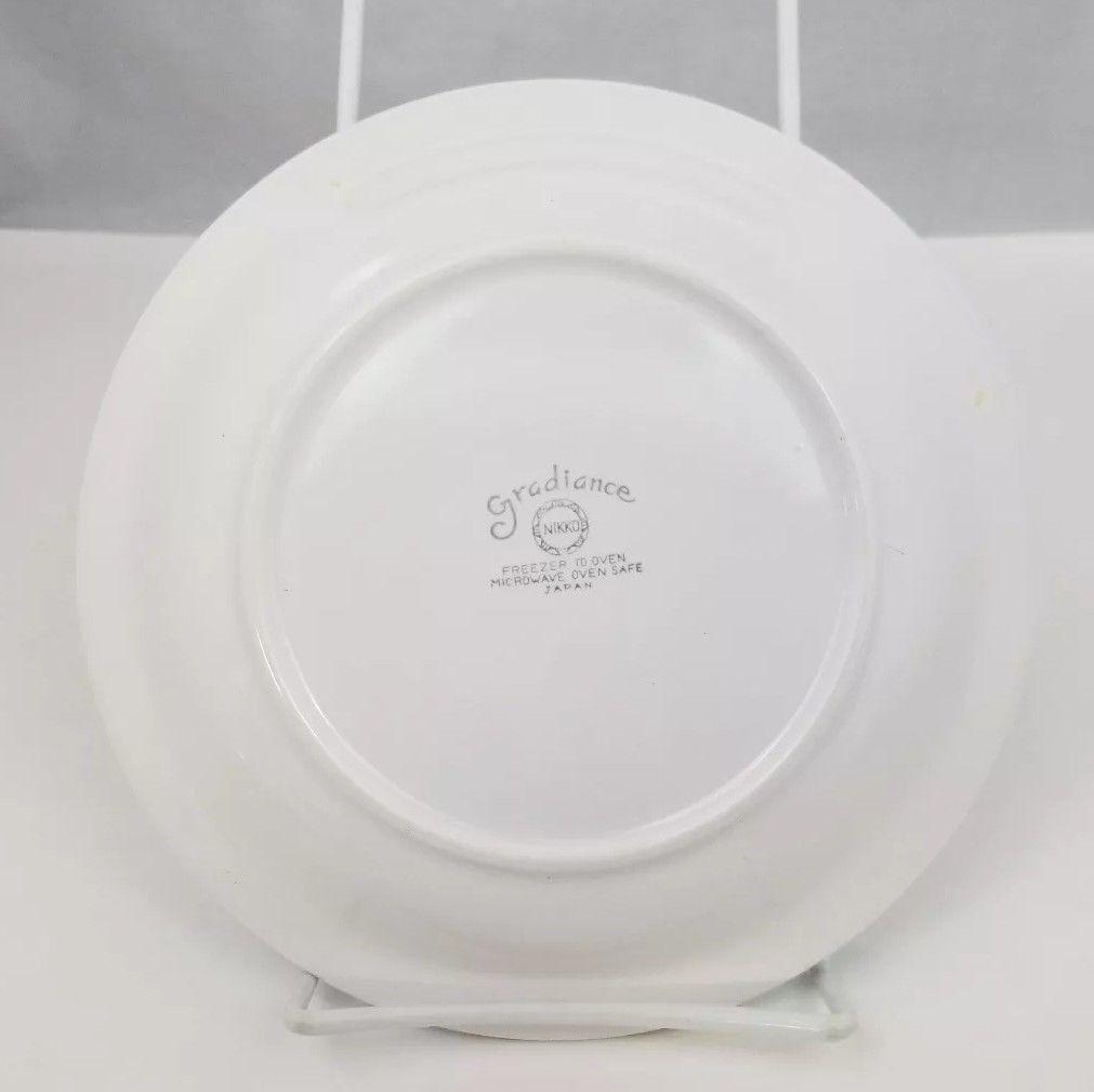 """Nikko Gradiance Bread Plate Set of 4 Azure Leafette Dish Microwave Safe 7.5"""" image 7"""