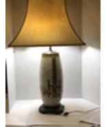 Japanese Pottery Table Lamps with Raised Texture-Set of 2 - $150.00
