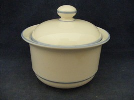 Lenox Chinastone Sky Blue Covered Sugar Bowl Coordinates with Sky Blue Patterns - $15.00