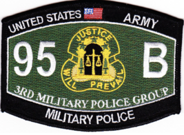 "4.5"" Army 3RD Military Police Group 95 B Embroidered Patch - $23.74"