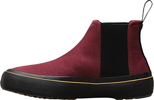 Dr. Martens Womens Phoebe Chelsea Boot Cherry Red Canvas Size UK 8 (9 M US Men/10 M US Women) 3QaUYU