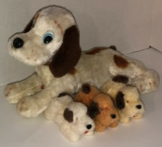 Vintage 60s DOG FAMILY Alps Battery Operated Nursing Puppies WORKING See... - $140.95