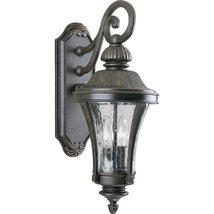 Progress Lighting P5836-77 2-Light Wall Lantern with Water Glass Panels, Forged  - $279.70