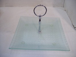 Square Glass Tray with Serving Handle, Kitchenware, Free Shipping B3 - £10.07 GBP