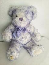 Nikki Build A Bear Purple White Teddy Childhood Cancer Awareness Plush S... - $17.79