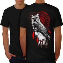 Dream Catcher Owl Animal Shirt Bird Of Prey Men T-shirt Back - $12.99+