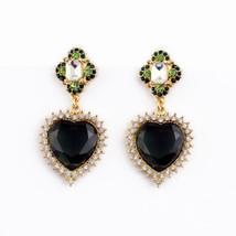 Betsey Johnson Rhinestone Heart Dangle  earrings& free Gift $3.49 - $5.49