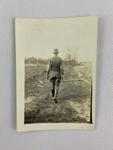 Soldier Walking Away Dirt Road Alabama Vintage B&W Photograph Snapshot 2... - $9.89