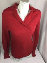 Mossimo Supply.CO Women Blouse Red Size XL Long Sleves Silky  - $14.03