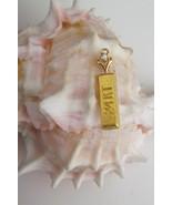 Vintage 24K Solid Yellow Gold Bar w/Diamond Pendant~Charm~3.1 Grams~Pure... - $940.49