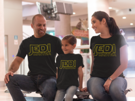 jedi master shirt star wars shirt matching shirts dad and son personaliz... - $10.73+