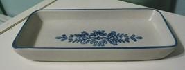 Pfaltzgraff Yorktowne Blue flower Rectangular Relish Appetizer ceramic Plate - $12.17