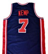 Shawn Kemp #7 Team USA New Men Basketball Jersey Navy Blue Any Size image 2