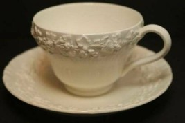 Footed Cup & Saucer Set Cream Color on Cream Color Shell Edge WEDGWOOD G... - $29.65