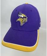 New Era 39Thirty Minnesota Vikings M/L Fitted Hat Purple Yellow  - $8.90