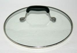 "Anolon Circulon 9 1/2"" Glass Lid Cover Pot Pan, Black Silicone Handle - $22.09"