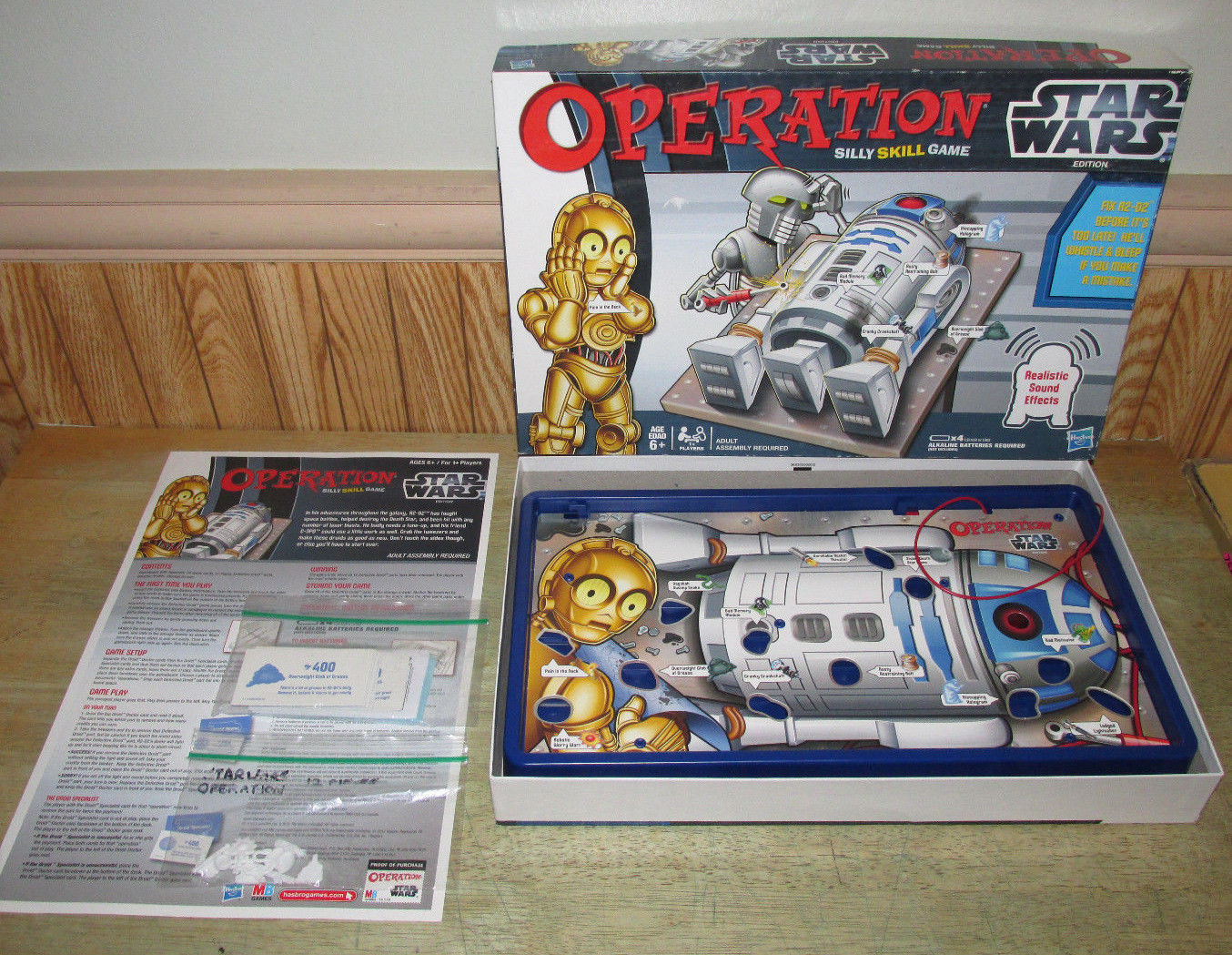 Primary image for Operation Game Star Wars Edition, Silly Skill Game, R2-D2 & CP3O Sounds, Hasbro