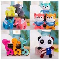 SurToys Plush Toy Animal Set Stuffed Animals Elephant Giraffe Fox & Panda - $27.45