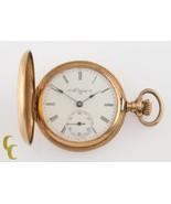 Elgin Full Hunter Antique 14k Yellow Gold Pocket Watch Size 0 7J 1904 - $542.66