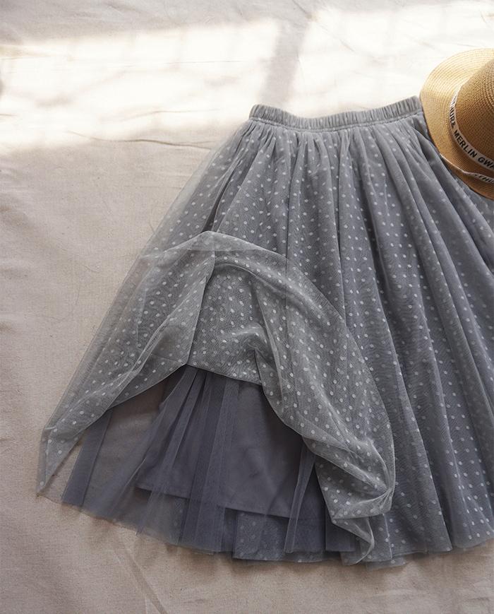 Gray tulle skirt midi 5