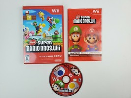 Super Mario Brothers Bros Wii 2009 Complete w/ Case & Manual tested & working - $28.04