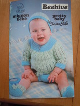 Vintage Beehive Pretty Baby by Susan Bates Crochet Baby Wardrobe - $6.99