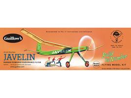 Guillow's Javelin Balsa Wood flying Model Airplane Kit  GUI-603 - $18.43