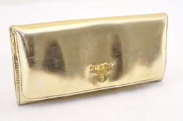 PRADA Enamel Long Wallet Gold Auth 5964 - $99.00
