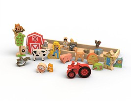 BeginAgain Farm A to Z puzzle – Toy Farm and Wooden Puzzle + Playset for... - $34.60