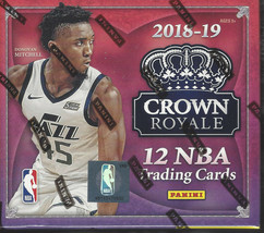 2018-19 PANINI CROWN ROYALE BASKETBALL FACTORY SEALED HOBBY BOX - $643.50