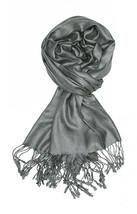 Charcoal Grey Fashion Pashmina Shawl Scarf 64 x 28 inches Tassels Womens - $9.11
