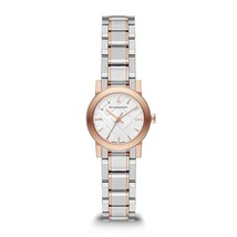 Burberry White Dial Rose Gold Ion-plated Bezel Ladies Watch BU9205 - $346.49