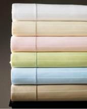 Sferra Marcus Stripe Taupe Twin Sheet Set 3 PC 100% Cotton Sateen 400 TC... - $98.99