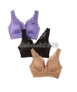Rhonda Shear Pin Up Girl Lacy Bra 3 pack SIZE LARGE - $16.82