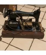 Vintage Antique Singer Sewing Machine 742 965 W 115 V With Case - $594.00