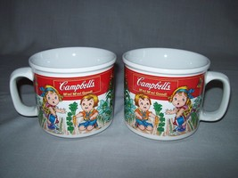 Soup Cups Mugs Campbell Kids In the Garden 1993 Qty 2 - $9.95