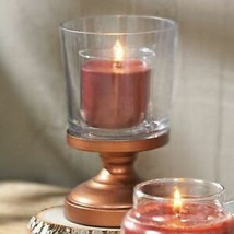 Yankee Candle Linear Leaves Small Pedestal Pillar Candle Holder - $25.00