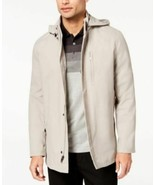 Alfani Mens Full-Zip Jacket with Removable Hood NWT Stand Collar Snap Cl... - $44.50