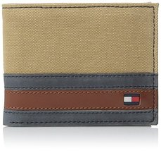 Tommy Hilfiger Men's Leather Passcase Wallet with Removable Card Holder,Exeter K
