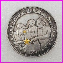 Sexy girl Hobo Nickel Coin 1881 commemorative free shipping #136 - $19.99