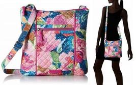Vera Bradley Iconic Hipster Crossbody Bag Women's Handbag in Superbloom - $39.55