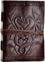 Double Dragon leather blank book w/ cord - $24.00