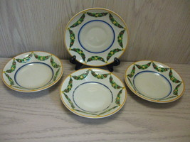 Hand Painted Ridge Way Desert Plates Qty 3 Saucer Qty 1 Swag Design 1973 - $9.95