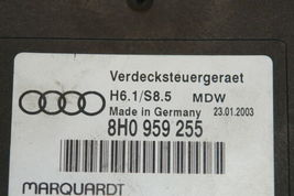 Audi A4 RS4 S4 Cabriolet Convertible Roof Top Control Module Computer 8H0959255 image 3