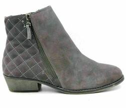 White Mountain Jodi Women Leather Ankle Boots Size US 8W Gray Diamond St... - £21.08 GBP