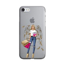 Cute Fashion Travel map Girl infant & mom Phone Case For iPhone X 10 7 8 14 - $14.00
