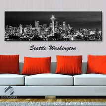 Single panel Art Canvas Print City Skyline seat... - $54.99 - $94.99