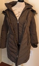 Jones New York Women's Down Coat with Side Detail and Faux Fur Trim Hood... - $150.00